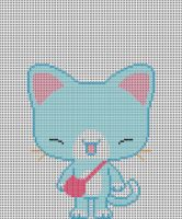 Blue Kitty Pattern by KittyBywaters