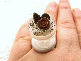 Chocolate Rose Ring by souzoucreations