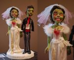 Wedding cake topper by Woodedwoods