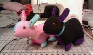 2 more bunnies for Fanime by SPPlushies