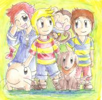 Us Earthbound kids by Galiexb
