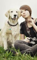 ME AND MY DOG : ) by feanutri
