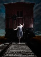 Running from the train by Photopersuasion