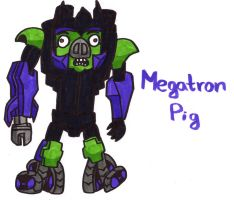 Megatron Pig by YouCanDrawIt