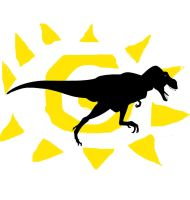 T. Rex and Sun by timbox129