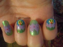 Easter Egg nails by BevyArt