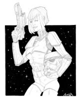 Female Stormtrooper by StarExtinction
