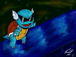 Mega Squirtle! Pokemon X and Y by F-Stormer-3000