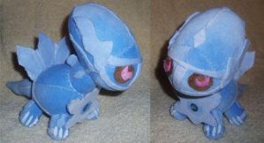 Dialga Plushie Commission by StitchyGirl