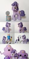 Adventure Time Lumpy Space Princess G4 Custom Pony by Oak23