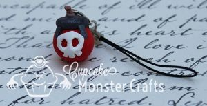 Adorable Zigs bomb cell phone charm by CupCakeMonsterCrafts