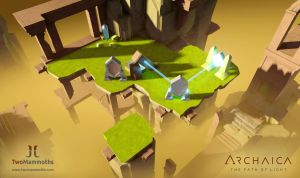 Screenshot from game: Archaica The Path of Light by MarcinTurecki