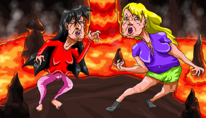 Naomi and Ashley fighting by MegaLordCharizard
