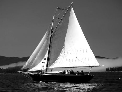 Daysailing in monochrome by davincipoppalag