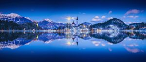 ...full moon panorama of bled... by roblfc1892