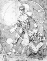 Green Lantern VS Sinestro by jonathan-rector