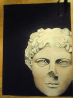 Conte Greek Sulpture by lynetteenright