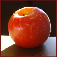 Glowing Organic Apple by 1footonthedawn