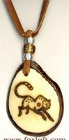 Cheetah Tagua Pendant by Foxfeather248