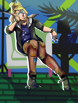 beliare in 90's fashion by Wolvesies