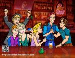 Frozen and Tangled in a pub by Richmen