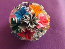Large Rainbow Venus Kusudama by lovechairmanmeow