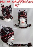 Red and black seasonal hat by wolffang56
