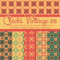 Free Chichi Vintage 53 Patterned Papers by TeacherYanie