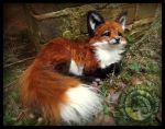 SOLD- HAND MADE Poseable Baby Fox! by Wood-Splitter-Lee