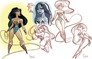 WonderWoman sketches by Javi-80