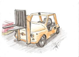 fiat 500: forklift by that-car-bloke