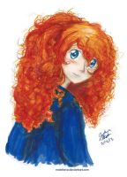 Let's be a Little Brave (Merida) by melofarce