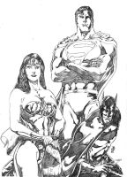 DC Heroes-TRINITY by JeanSinclairArts