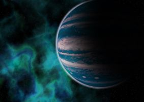 A Blue Gas Giant by AneiKhaar