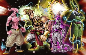 DBZ Villains by scottssketches