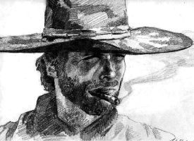 Clint Eastwood by HCui