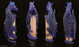 Dragon pen - Wax carving by Dans-Magic