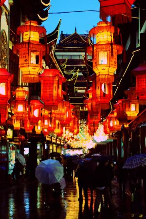 Chinese lanterns, Shanghai by Galanaya
