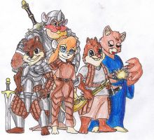 If they played DnD... by Guukan-Mangaka