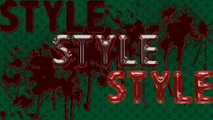 bloody wallpaper style by rowlee