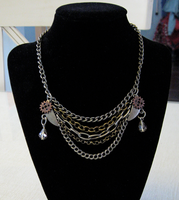 Chain Reaction Necklace by JadeDragonne