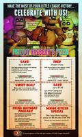 Freddy Fazbear's Pizza Coupons by MrAngryDog