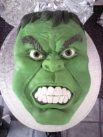 Hulk Cake by SugarTreece123