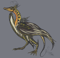 Blackburnian Wyvern by TheLaarc