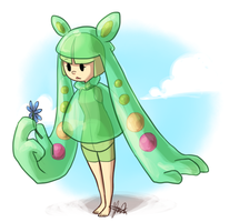 Pokemon: Beans the Reuniclus by ky-nim