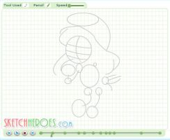 How to Draw Smurfette Part 1 by SketchHeroes