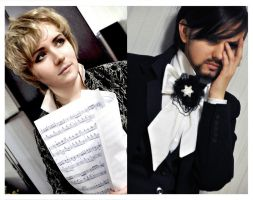 Mozart and Salieri cosplay by rosenrotFreiherr