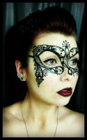 Venetian mask Painting by CrystalEffinOverland