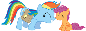 Rainbow Dash and Scootaloo by rolin11