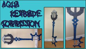 Aqua Keyblade Commission by Ruxtano